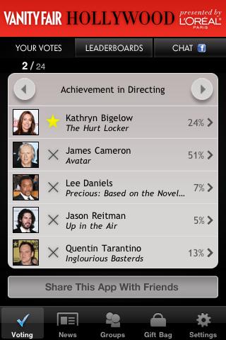 La app de Vanity Fair para iPhone