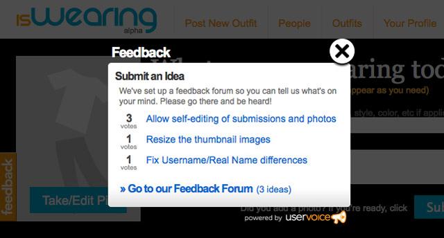 MARKETING-10.COM - UserVoice.com permite alojar un Script para albergar un forum que proporcione feedback